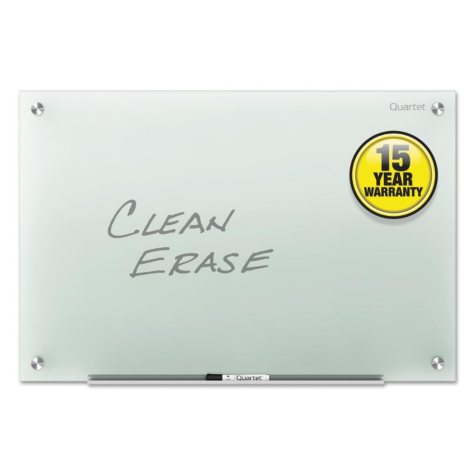 Quartet - Infinity Glass Marker Board, Frosted -  72 x 48