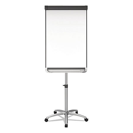 Quartet® Prestige 2 Mobile Presentation Easel,  3' x 2', White Board with Silver Frame