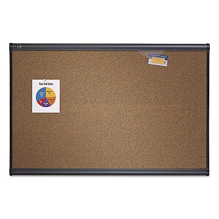 Quartet - Prestige Bulletin Board, Brown Graphite-Blend Surface, 72x48 -  Gry Aluminum Frame