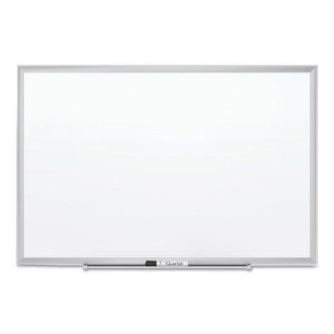 Quartet - Classic Series Porcelain Magnetic Board, 72 x 48, White -  Silver Aluminum Frame