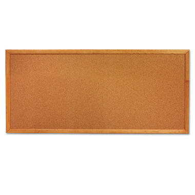 Quartet Classic Slim Line Cork Bulletin Board, 36