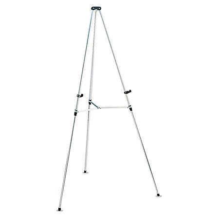 """Quartet - Lightweight Telescoping Tripod Easel, 38"""" to 66"""" High, Aluminum -  Silver"""