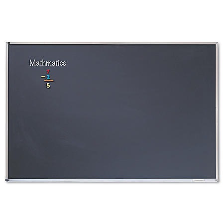 Quartet - Porcelain Black Chalkboard w/Aluminum Frame, 48 x 96 -  Silver