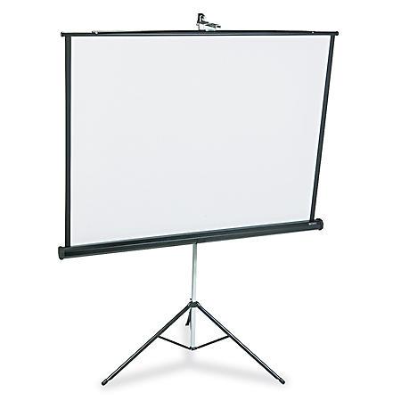 Quartet - Portable Tripod Projection Screen, 60 x 60, White Matte -  Black Steel Case
