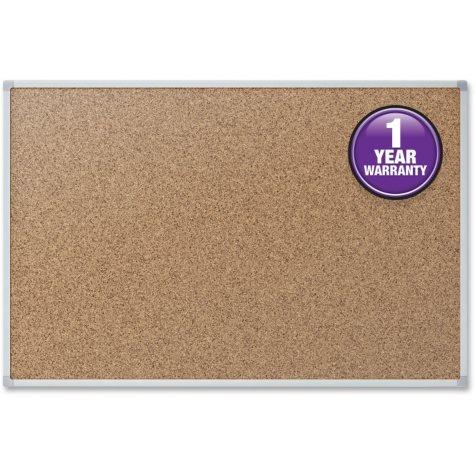 "Mead Cork Bulletin Board, 24"" x 18"", Aluminum Frame"