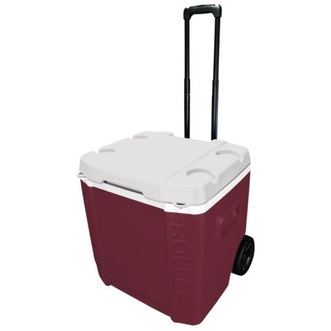 60QT TAILGATE COOLER MAROON/WHITE