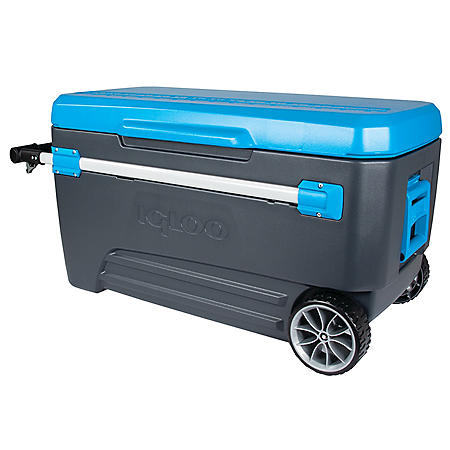 Igloo Glide Roller Cooler, Blue (110 qt.)