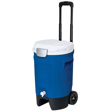 5 Gallon Sport Roller Cooler - Blue