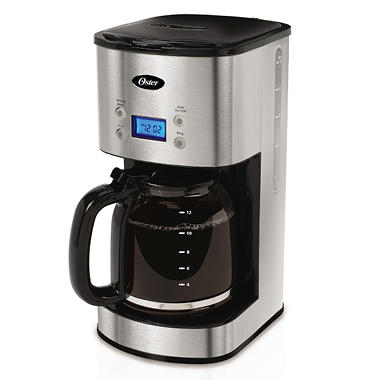 Oster 12-Cup Programmable Coffeemaker - Stainless Steel
