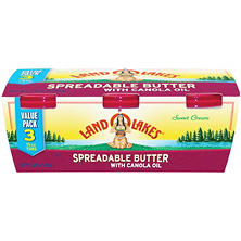 Land O'Lakes Spreadable Butter (15 oz. tubs, 3 ct.)