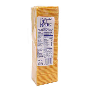 Deli Meister American Cheese (120 slices, 5 lb.)