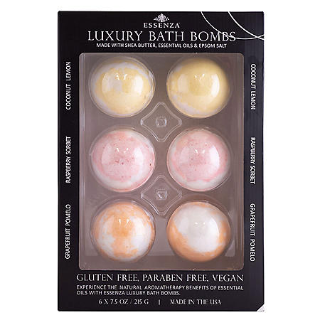 Essenza Luxury Bath Bombs (7.5 oz., 6 pk.)