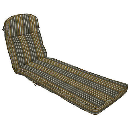 Double Welt Chaise with Curved Tuck
