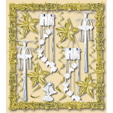 bridal shower decorating kit gold