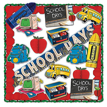 School Days Decorating Kit - 19 pc.