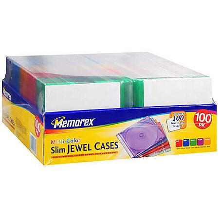 Memorex� Slim Jewel Cases - 100 pack