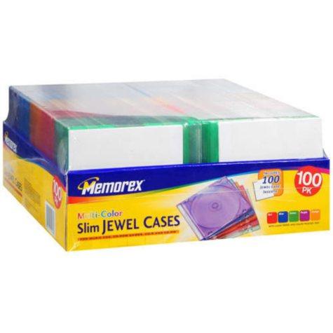 Memorex® Slim Jewel Cases - 100 pack