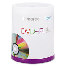 Memorex - DVD+R Discs, 4.7GB, 16x, Spindle, Silver -  100/Pack