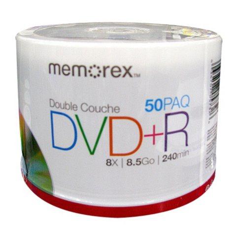 Memorex DVD+R Dual Layer - 50 Disks