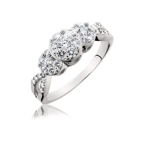 0.75 ct. t.w. Touch Setting® Three Stone Diamond Fashion Ring  (H-I, SI2)