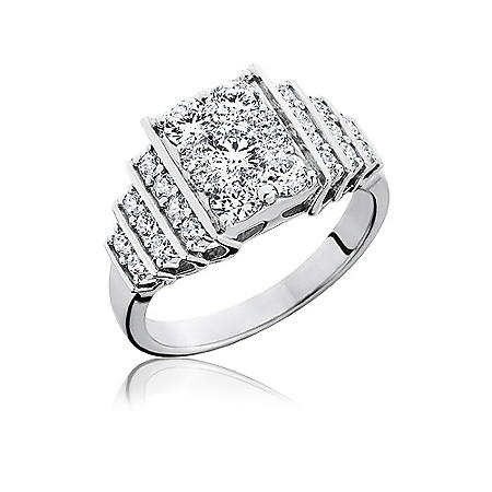 1.25 ct. t.w. Touch Setting® Fine Lines Emerald Shaped Diamond Fashion Ring (H-I, SI2)