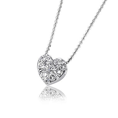 0.25 ct. t.w. Diamond Heart Pendant in 14K White Gold (H-I, I1)