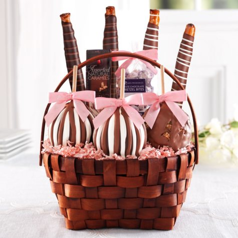 Mrs Prindables Classic Spring Caramel Apple Basket