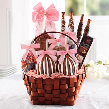 Mrs. Prindables Grand Spring Caramel Apple Basket