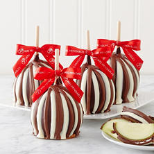 Mrs. Prindables Holiday Triple Chocolate Petite Caramel Apple 4-Pack