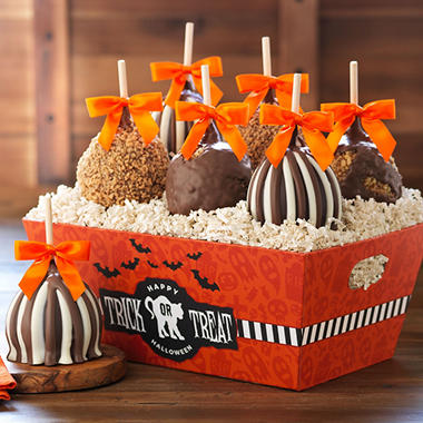 Mrs. Prindables Trick or Treat Petite Caramel Apple Tray