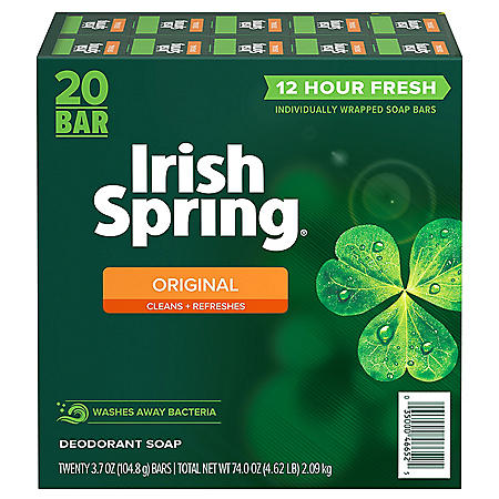 Irish Spring Original Deodorant Soap (3.7 oz., 20 ct.)