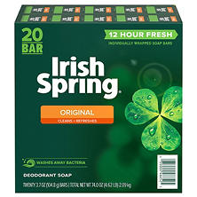 Irish Spring Deodorant Soap - 3.75 oz. - 20 ct.