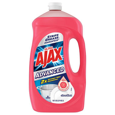 Ajax Advanced Citrus Blast Dishwashing Liquid (102oz.)