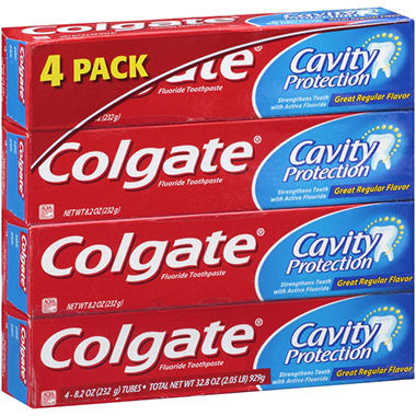 Colgate Cavity Protection Fluoride Toothpaste - 8.2 oz. - 4 pk.