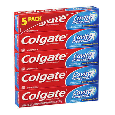 Colgate® Cavity Protection Fluoride Toothpaste - 8.2 oz. - 5 ct.