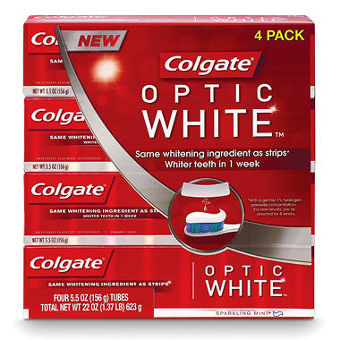 Colgate Optic White Toothpaste  - 4 pk. - 5.5 oz.