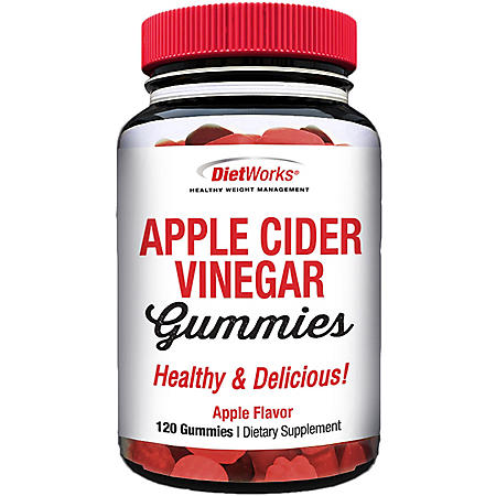 DietWorks Apple Cider Vinegar Gummies (120 ct.) - Sam's Club