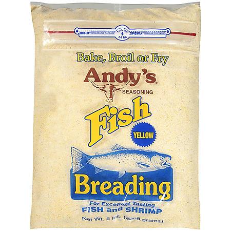 Andy's® Seasoning Fish Breading - Yellow - 5 lbs.
