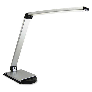 Lorell Smart Device Task Light with USB Slot, Silver