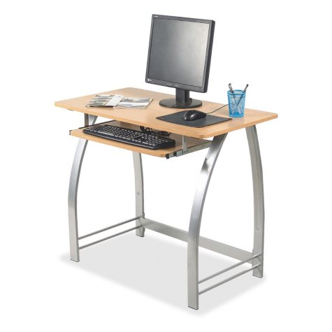 Lorell Maple Laminate Computer Desk, Maple