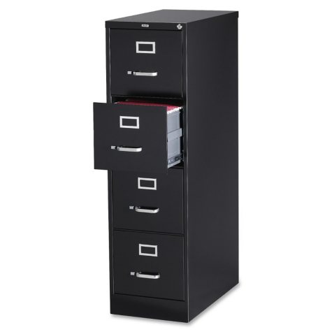 "Hirsh 15"" x 26 ½"" 4-Drawer Vertical File Cabinet, Select Color"