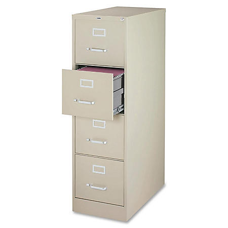 "Hirsh 18"" x 26½"" 4-Drawer Vertical File Cabinet, Select Color"