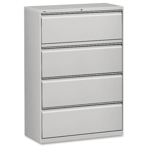 "Hirsh 36"" x 52½"" 4-Drawer Lateral File Cabinet, Select Color"