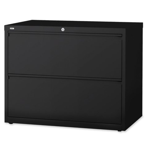 "Hirsh 36"" x 28"" 2-Drawer Lateral File Cabinet, Select Color"