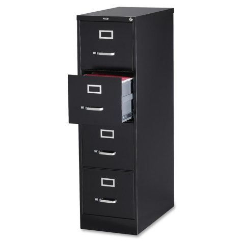 "Hirsh 15"" x 25"" 4-Drawer Vertical File Cabinet, Select Color"