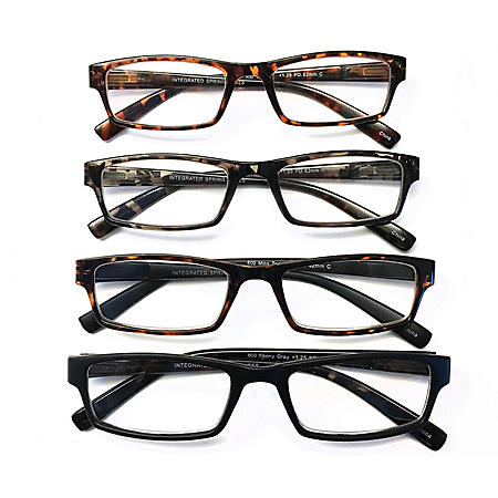 I.Image Men's Plastic 4-Pack Reading Glasses