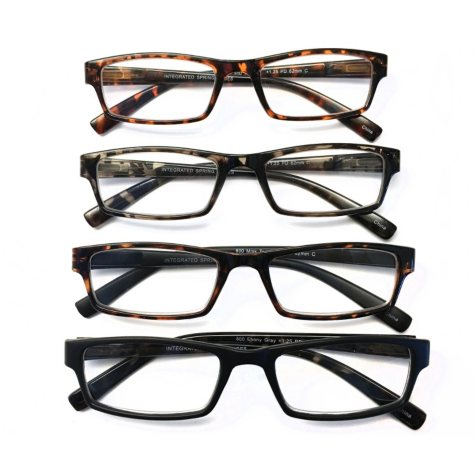 I.Image Men's Plastic 4-Pack Reading Glasses