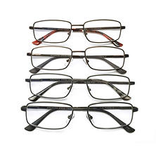 I.Image Men's Metal 4-Pack Reading Glasses, Select Power