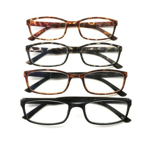 I.Image Men's TR-90 Memory Plastic 4-Pack Reading Glasses, Select Power