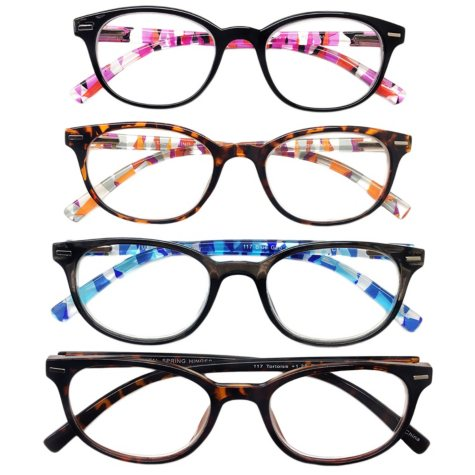 I.Image Women's Plastic 4-Pack Reading Glasses, Select Power
